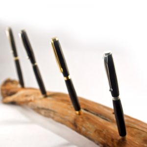 Hand Sculpted Bog Oak Pen