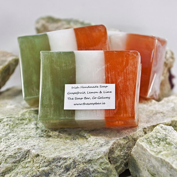 Irish Flag Handmade Soap