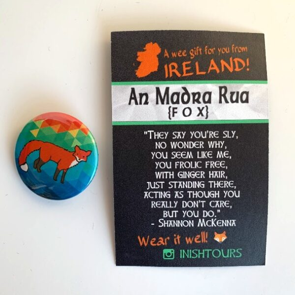An Madra Rua Badge